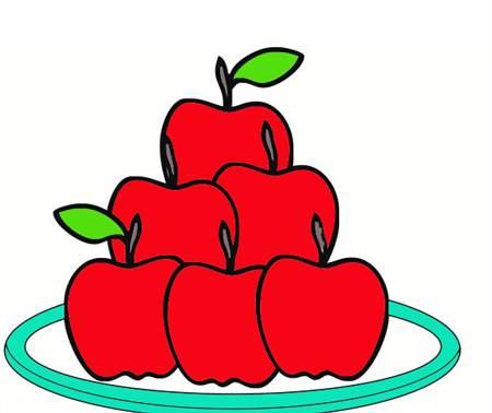 نقاشی سیب سفره هفت سین