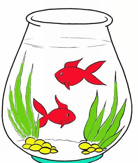 نقاشی تنگ ماهی سفره هفت سین