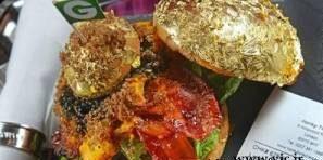 عکس های پسر پولدار عرب در حال خوردن ساندویچ طلای 24 عیار!
