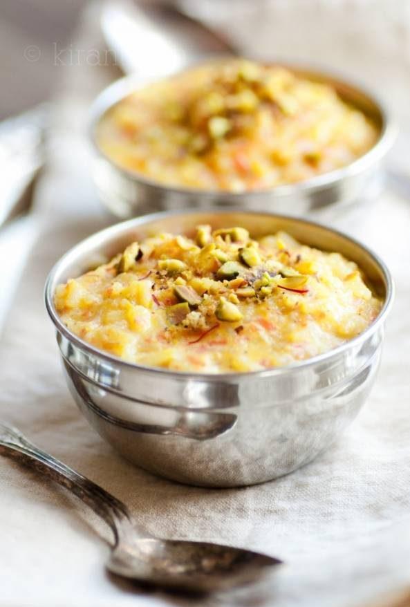 پودینگ هویج و برنج