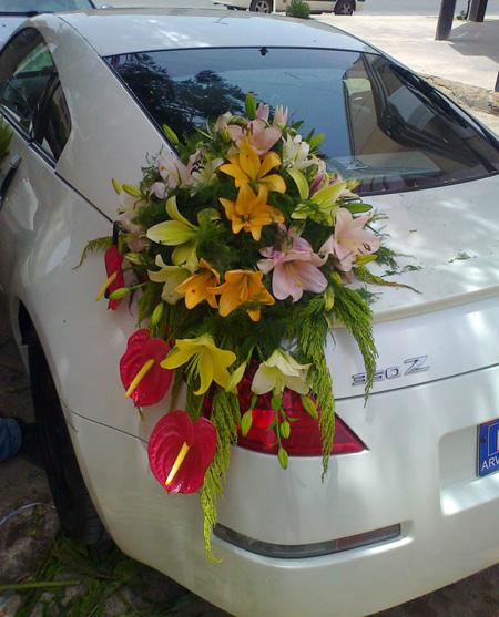 عکس هایی از تزیینات شیک ماشین عروس