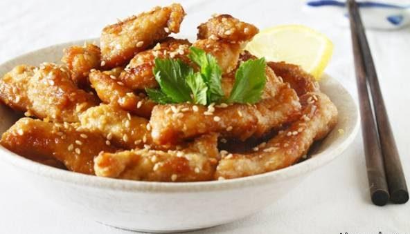 مرغ سوخاری با چاشنی لیمو چینی