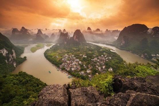 یانگشوئو تاون ، در استان گوانگشی در جنوب چین.