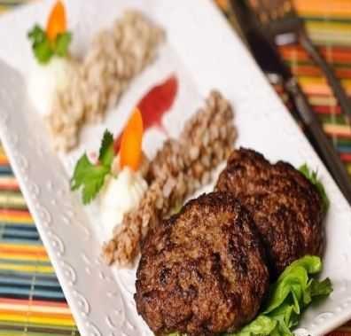 کباب تابه ای با سبزی های معطر