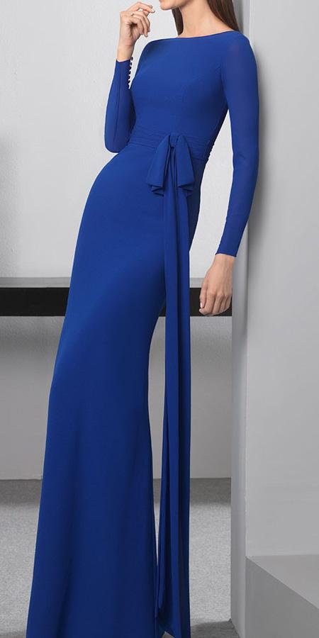 مدل لباس مجلسی پوشیده سورمه ای رنگ