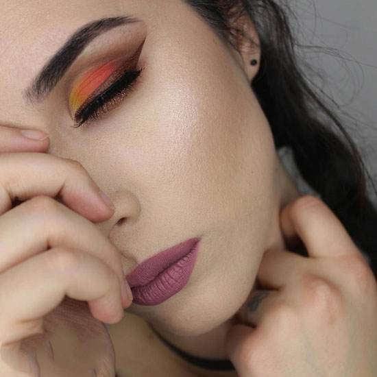 مدل آرایش جذاب صورت و چشم ها میکاپ ارتیست Sandra Miyagi