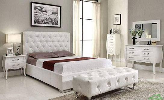 مدل های سرویس خواب زیبای سفید رنگ عروس