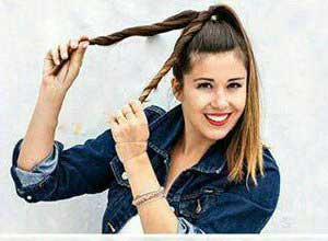آموزش مدل موی زیبای جمع در عرض 5 دقیقه