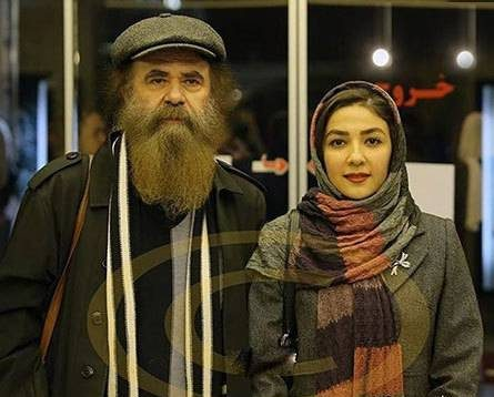 سارا صوفیانی در کنار همسرش امیرحسین شریفی