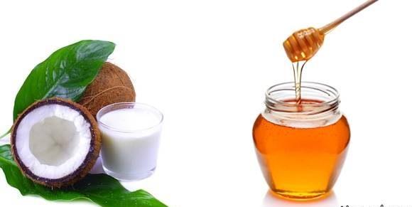مخلوط آب نارگیل و عسل