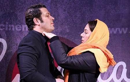 پژمان بازغی و همسرش