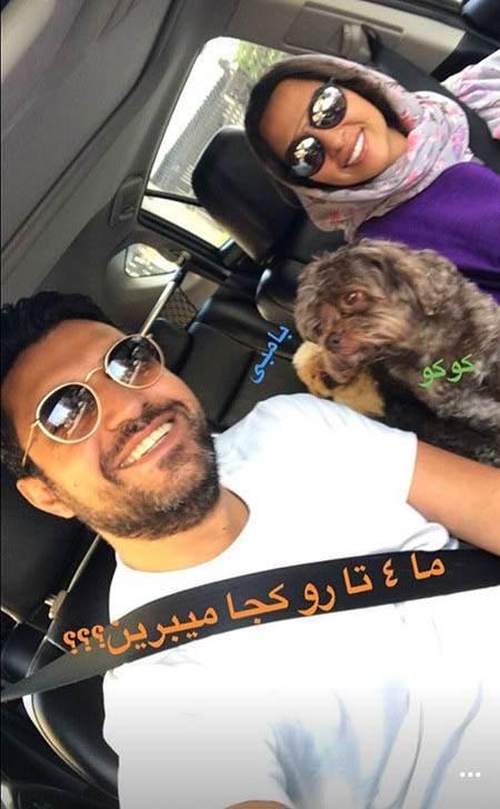 عکس اشکان خطیبی و همسرش