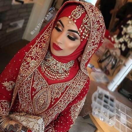 بلوز بلند حریر زیباترین مدل لباس های عروس پوشیده اسلامی
