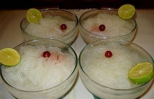 فالوده با نودل برنج چینی