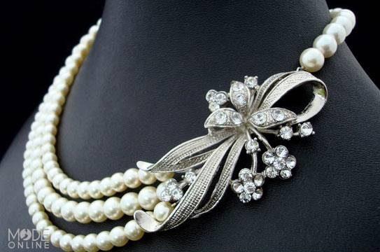 مدل گردنبندهای لوکس عروس شرقی