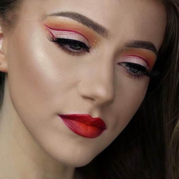 عکس های مدل آرایش جذاب چهره به سبک Rachael Trudell آرایشگر