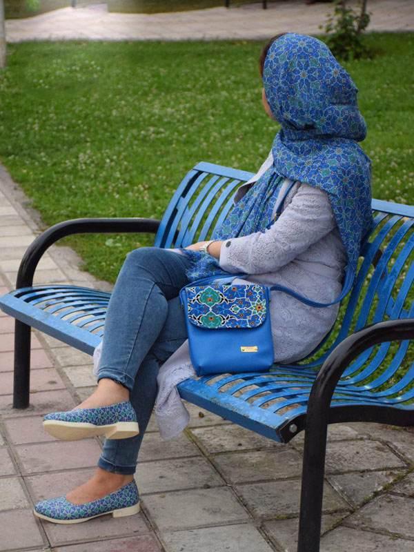تصاویر ست کفش، کیف و شال ایرانی برند لیرو