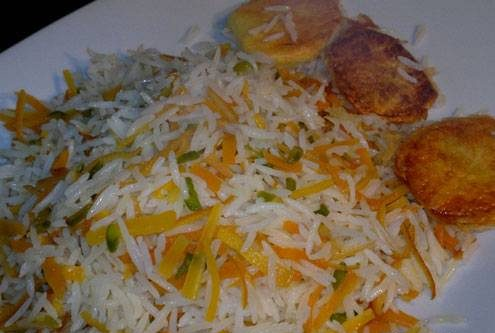 طرز تهیه پلو پوست پرتقال