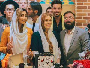 عکس از سحر قریشی در کنار مدل جنجالی الهام عرب