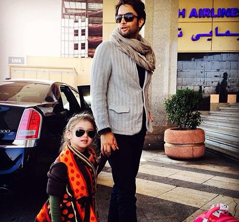 عکس بنیامین بهادری و دخترش