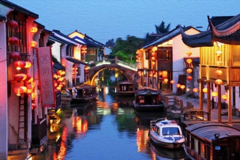 سوژو در شرق چین در نزدیگی شانگهای (Suzhou, China)