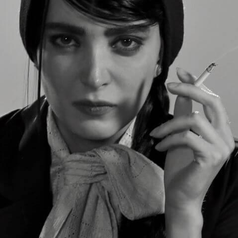 سیگار کشیدن بهنوش طباطبایی