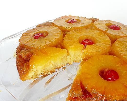 کیک آناناس و انبه وارونه