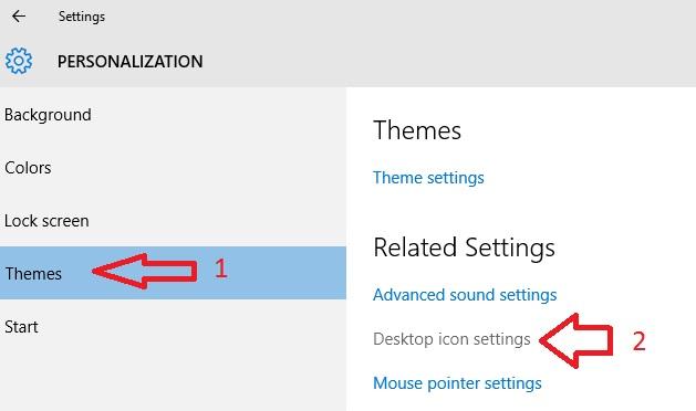 آموزش تنظیمات Icon های دسکتاپ در ویندوز 10