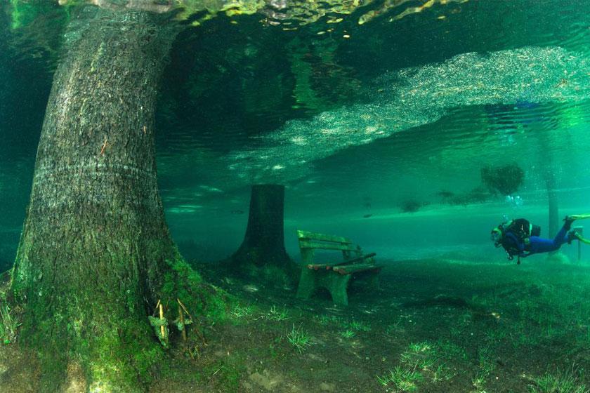 پارک گرونر اتریش پارک زیرآبی