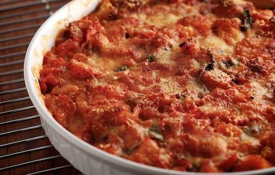 اسکالوپ گوجه فرنگی با نان تست