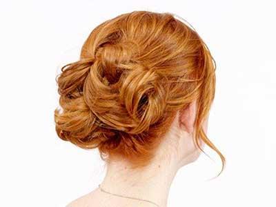 بافت مو به صورت گره ای پشت سر