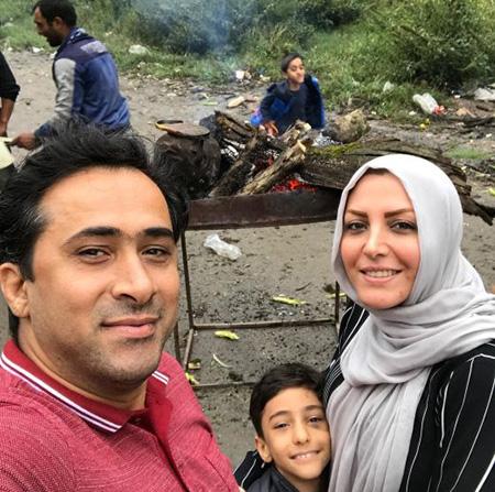 المیرا شریفی مقدم و همسرش داوود عابدی در تعطیلات