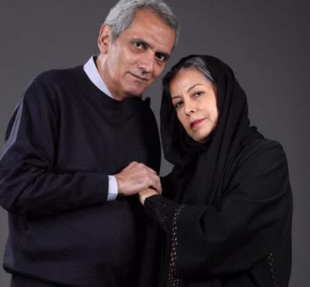فرخ نعمتی در کنار همسرش