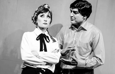 حدیث فولادوند و همسرش رامبد شکرآبی در صحنه تئاتر
