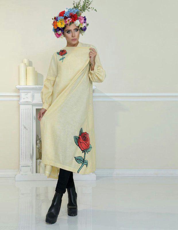 مدل مانتو پاییزی و شال برند رنگل بسیار شیک
