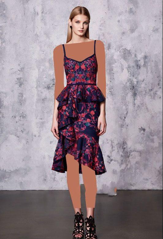 مدل لباس مجلسی برند Marchesa Notte