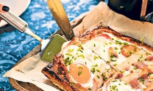 تارت تخم مرغ و جعفری
