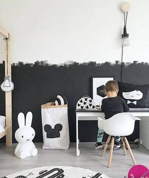 زیباتر کردن اتاق کودک با رنگ های مشکی