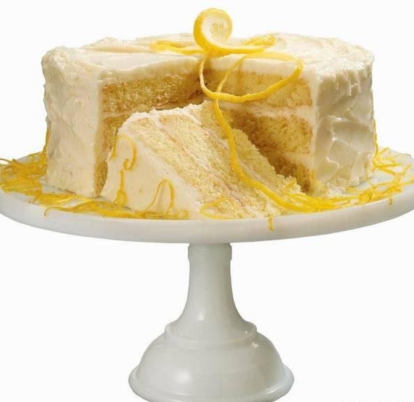 طرز تهیه کیک روغن زیتون با لیمو و خامه لیمویی