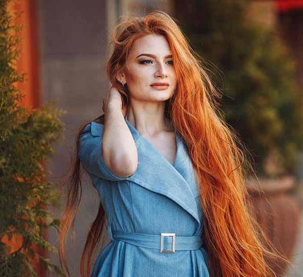 عکس های دختری با جذاب ترین چهره و زیباترین مو, این دختر جذاب ترین چهره و زیباترین موها را دارد