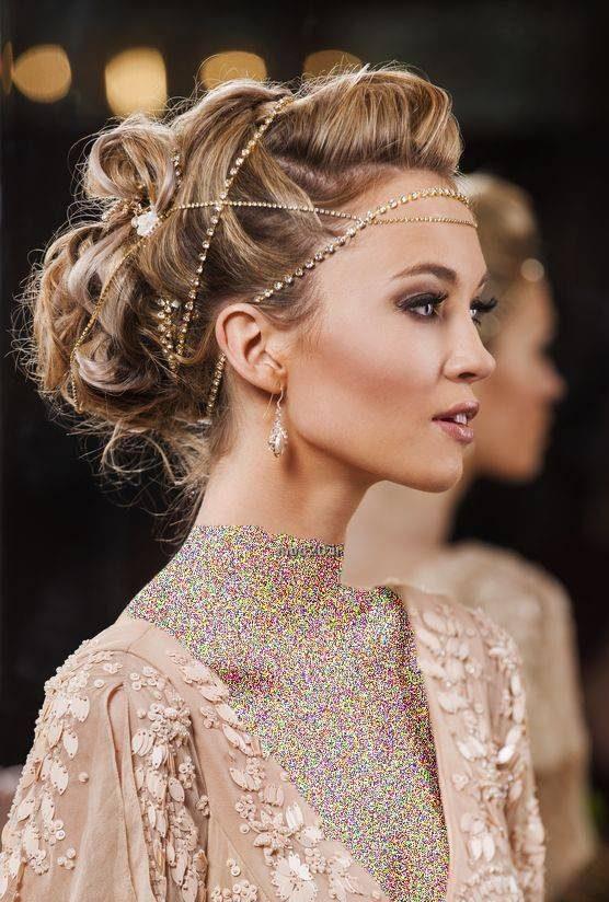 مدل مو و شینیون عروس اروپایی