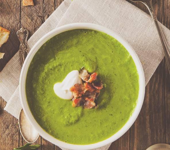 طرز تهیه سوپ نخودفرنگی با رزماری