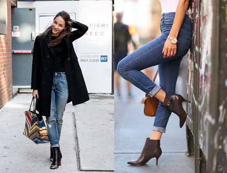 نحوه ست کردن کفش بوت با شلوار جین