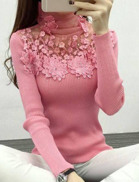 مدل های بلوز بافت زیبای دخترانه