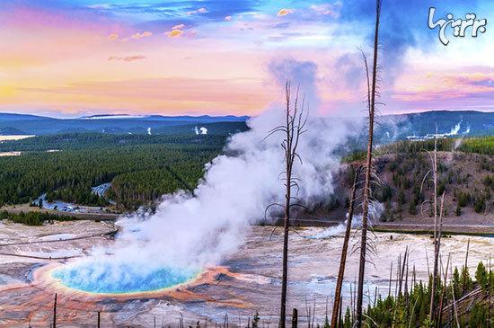 چشمه گرند پریسماتیک (Grand Prismatic Spring)، وایومینگ، آمریکا