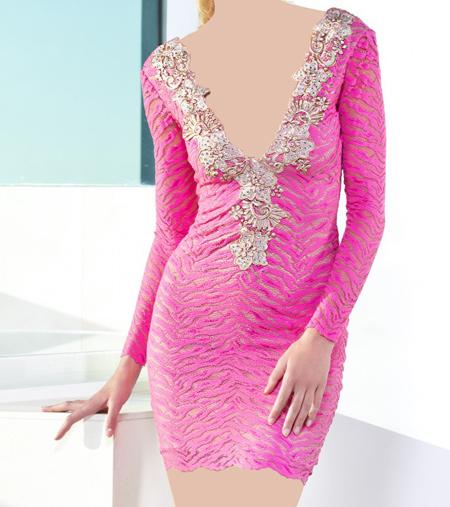 مدل های لباس کوتاه مجلسی شیک Baccio