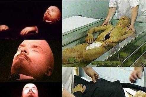 تصاویر جسد سالم مومیایی شده ولادیمیر لنین در روسیه