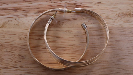 گوشواره های حلقه ای طلایی