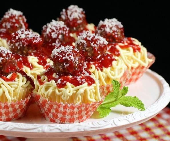 کاپ کیک اسپاگتی