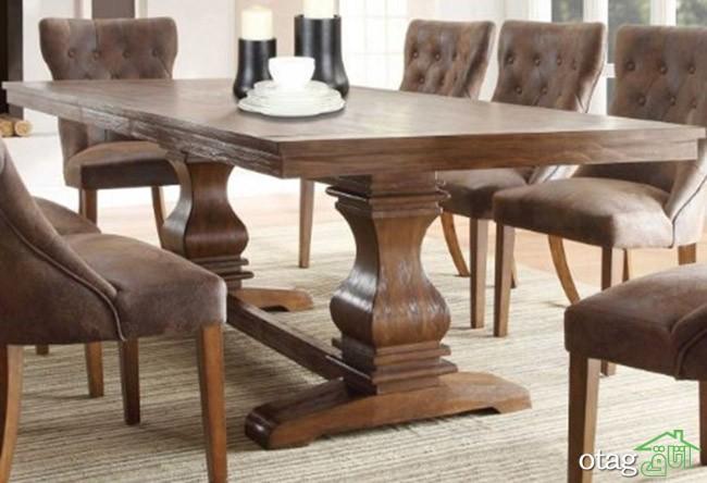 مدل های جدید میز ناهار خوری چوبی کلاسیک و مدرن